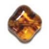 Glass Bead Diamond Shape 12mm Amber - Strung